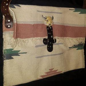 Aztec blanket style messenger bag, never been used